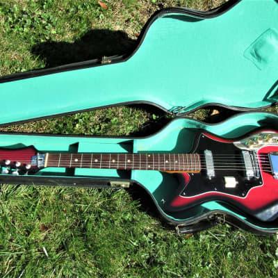 Inter-Mark Cipher Guitar, 1960's,  Japan,  Cherryburst, 2 Pu's, Case, Super Clean for sale