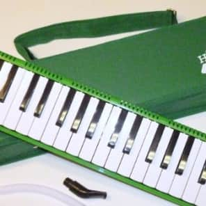 Deluxe Harris Musical Green Melodica with Matching Green Deluxe Case