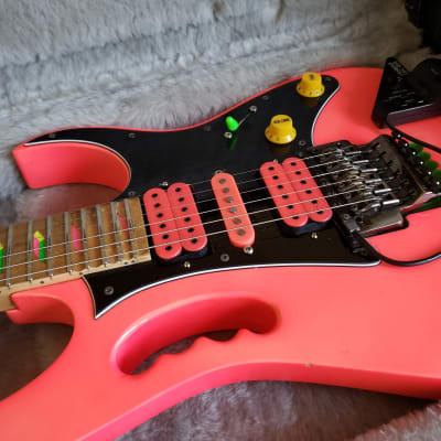 1988 Ibanez JEM777 Pink with Guitar/Midi Interface