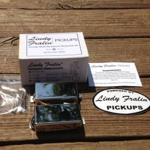 Lindy Fralin BIG SINGLE Pickup Set NICKEL Covers Humbucker Sized Perfection
