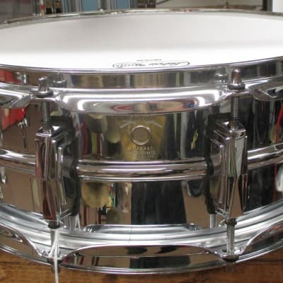 Ludwig  Chrome Over Brass Supraphonic Limited Edition 5 X 14 snare drum