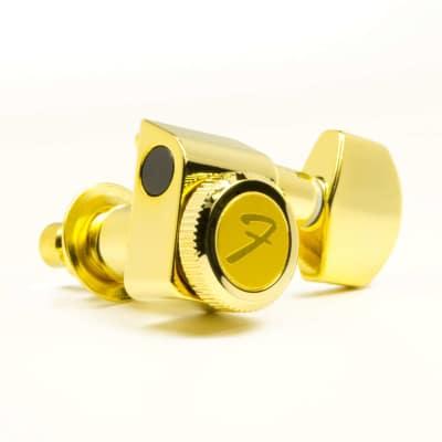Genuine Fender  099-0818-200 gold locking tuners, upgrade for Strat & Tele image