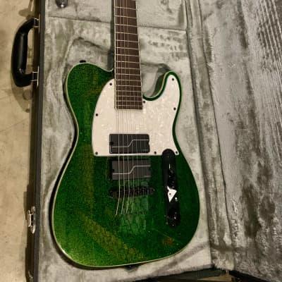 ESP LTD SCT-607B Stephen Carpenter Signature 2019 Green Sparkle