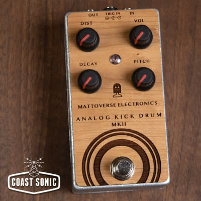Mattoverse Electronics Analog Kick Drum MKII *Limted Edition Custom Engraved Cherry Wood Faceplate*
