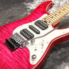Schecter SD-DX-24AS See-Thru Pink Maple- Free Shipping* image