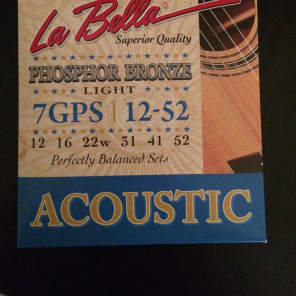 La Bella 7GPS Phosphor Bronze Acoustic Guitar Strings - Light (12-52)