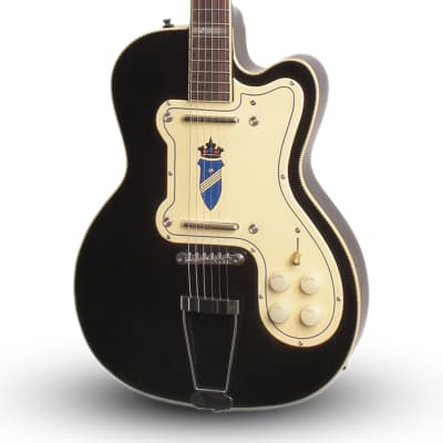 Kay K161V Thin Twin Electric Guitar - Vintage Reissue - Brand New - Black - With Case