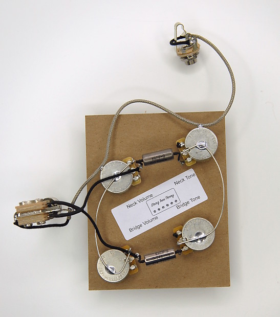 ES-335 Wiring Harness - 500K Vintage Taper CTS Pots - includes Switch on