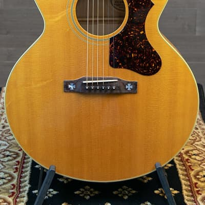 Gibson J-185 AN LTD Jumbo Acoustic Antique Natural w/Case 1991 #2 of 100 for sale