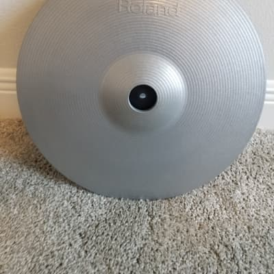 """Roland CY-15R-SV V-Cymbal 15"""" Ride Pad 2010s Silver"""