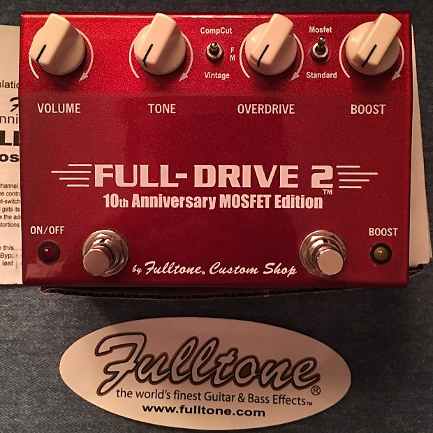 fulltone full drive 2 10th anniversary mosfet overdrive reverb. Black Bedroom Furniture Sets. Home Design Ideas