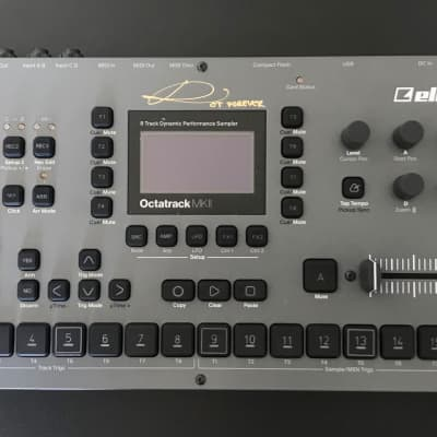 Autographed Elektron Octatrack MKII - Mint Condition with Protective Lid and Screen Plastic