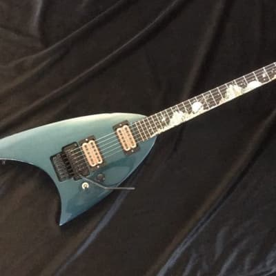 Area-51 Roswell V  Flying V Custom Shop Guitar Black Diamond Hand Crafted for sale