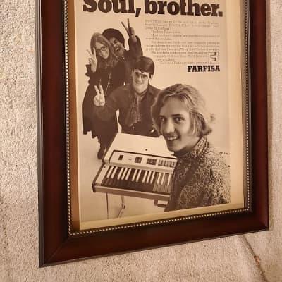 1966 Farfisa Promotional Ad Framed Compact Model Original