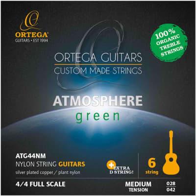 Ortega ATG44NM - Jeu de cordes guitare classique Atmosphere Green - Tension médium for sale