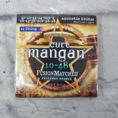 Curt Mangan 39001 12 String 10-48 Med Light Acoustic Strings
