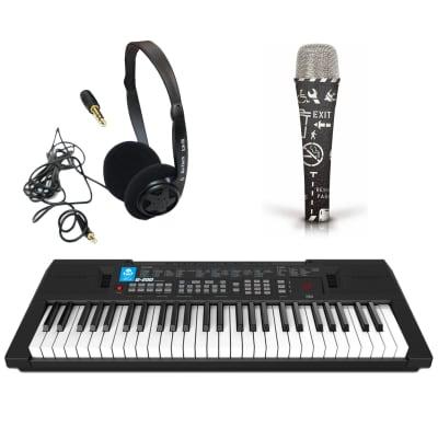 Portable 54 Full Size Key Electronic Keyboard Free Mic and Headphones