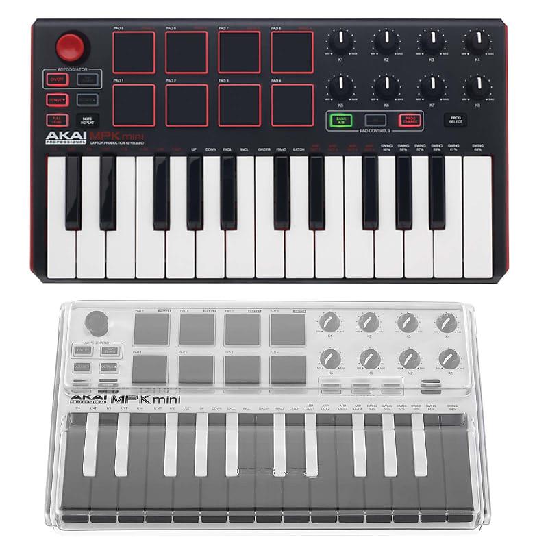 Akai Professional MPK Mini MKII Compact USB MIDI Keyboard Pad Controller +  Cover