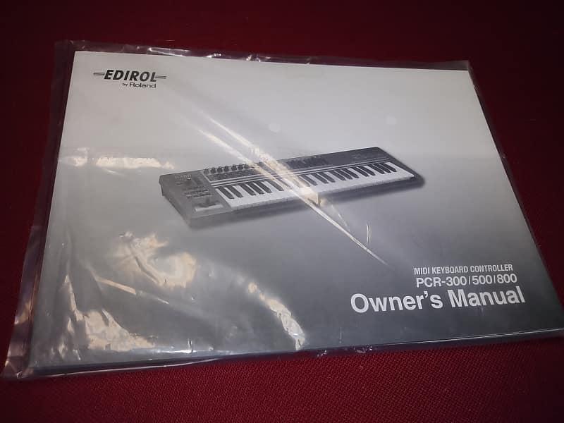 Edirol by Roland MIDI Keyboard Controller PCR-300/500/800 Owner's Manual
