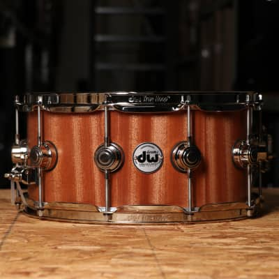 DW Collector's Series Snare 6.5x14 Satin Oil Over Maple/Mahogany with Nickel Hardware Satin Oil Over Maple/Mahogany