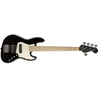 Squier Contemporary Active Jazz Bass V HH, Maple neck, (less case), Black Demo Gently Used