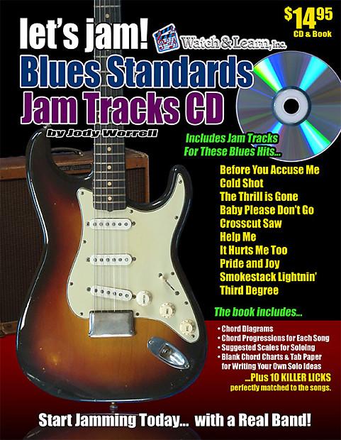 Watch & Learn Let\'s Jam Blues Standards Jam Tracks CD   Reverb