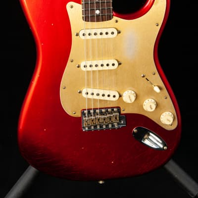 Fender Custom Shop 2019 Limited Big Head Strat® Journeyman Relic® in Aged Candy Apple Red for sale