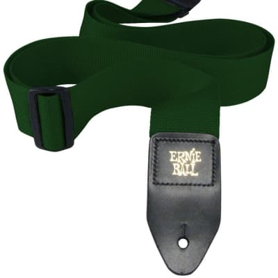 "Ernie Ball 4050 2"" Poly Polypropylene Guitar/Bass Strap - Green"