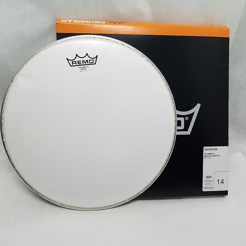 remo ks 0214 00 smooth white falams snare drum head 14 reverb. Black Bedroom Furniture Sets. Home Design Ideas