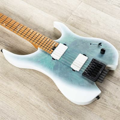 Legator Ghost G6OD Headless Guitar, Roasted Maple Neck & Fretboard, Satin Arctic