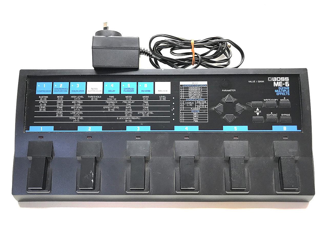 boss me 6 guitar multiple effects pedal reverb. Black Bedroom Furniture Sets. Home Design Ideas