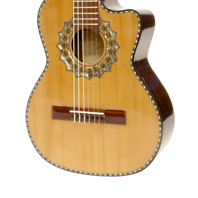 Paracho Elite Guitars Zapata Requinto Nylon 6 String Solid Cedar Top Natural for sale