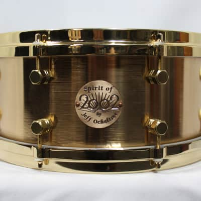 "Paiste Spirit of 2002 by Jeff Ocheltree 5.5x13"" Cast Bronze Snare Drum"