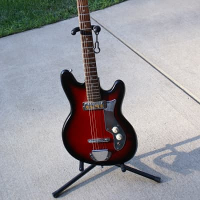 Vintage - Fiama  Tiesco like NA 1960's Black / Red Burst for sale