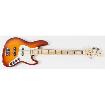 Fender American Elite Jazz Bass V Ash, Maple, Tobacco Sunburst (Supplier B-Stock) for sale