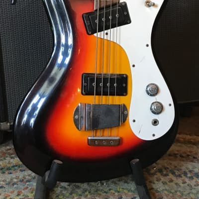 Mosrite Ventures Bass 1960s 3 Color Sunburst for sale