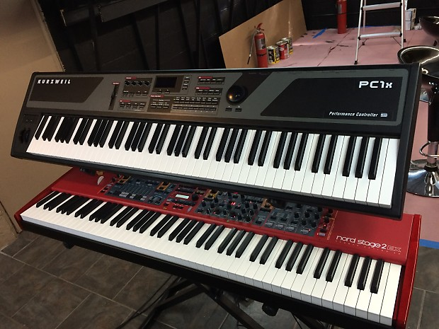 Kurzweil Pc1x With Classic Keys Expansion Board And Case Reverb