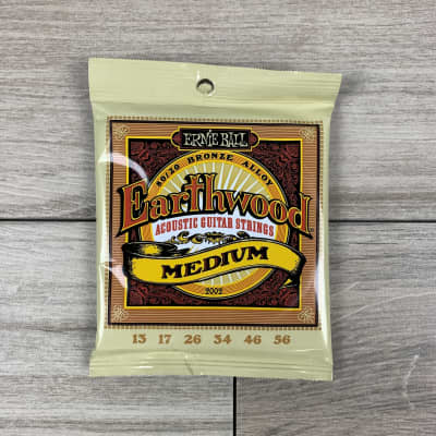 Ernie Ball Earthwood 80/20 Bronze Acoustic Guitar Strings, 13-56, Medium