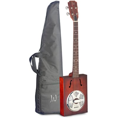 James Neligan CASK-PUNCHEON-1 Cask Series Spruce Top 4-String Acoustic Cigar Box Resonator Guitar