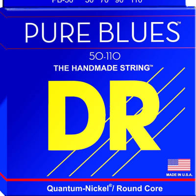 DR Strings PB-50 Pure Blues 4 String Electric Bass Guitar Strings 50-110