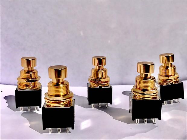 5pcs gold 3pdt stomp box foot switch guitar effect pedal diy reverb. Black Bedroom Furniture Sets. Home Design Ideas