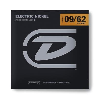 Dunlop DEN0962 Performance+ Nickel Wound 7-String Electric Guitar Strings - 9-62