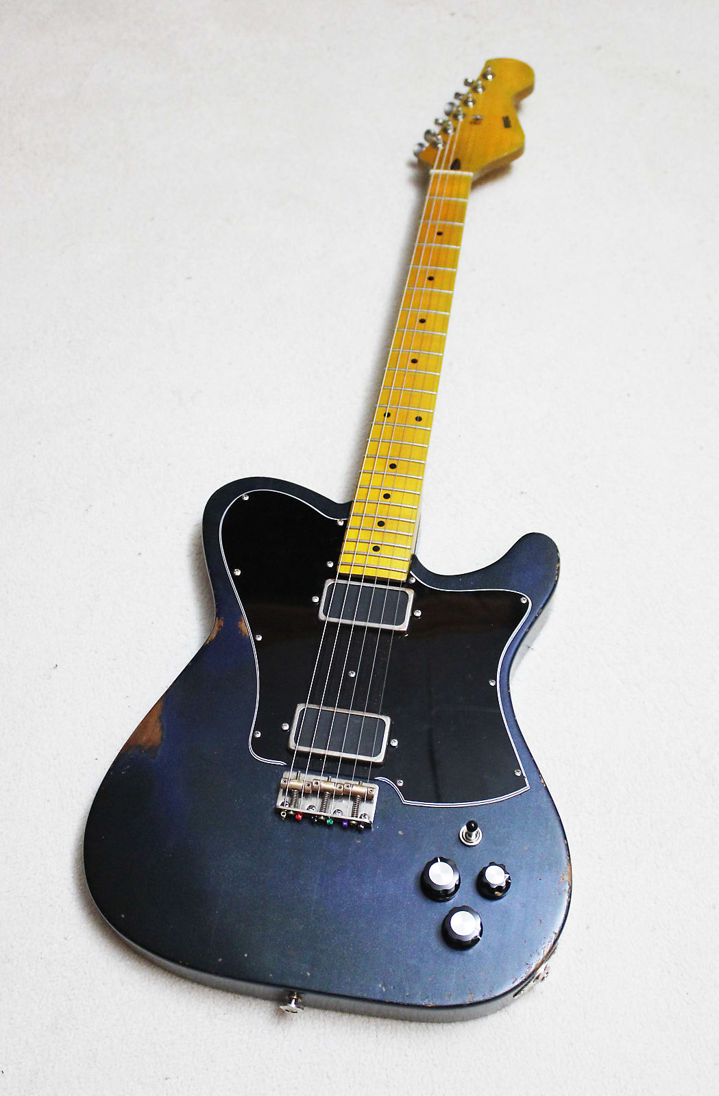 DWG Chubby TL 2020 Aged Metallic Blue Satin Custom Handmade