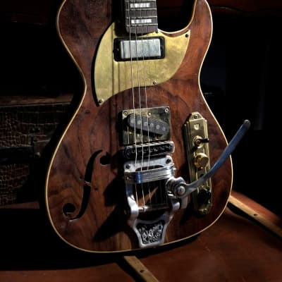 Postal Hand-Made Midnight Special  Walnut Modded Bigsby B 16 - Anderson Pickups