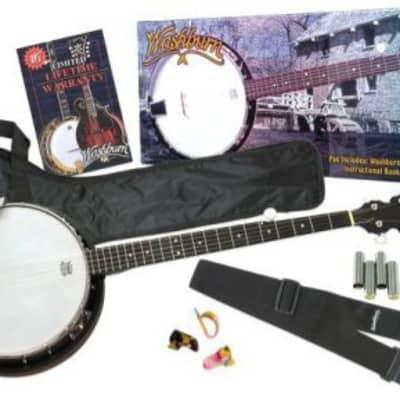 Washburn 5 String Banjo B8K Package with Gig Bag for sale