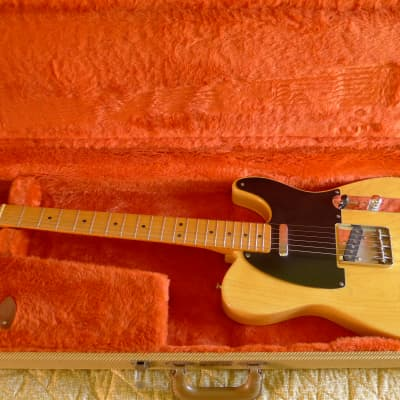 1992 Fender 1952 Reissue Butterscotch Telecaster Relic, 2  bodies, Flamey Neck, OHSC, Case Candy,