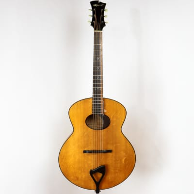 D'Ambrosio 2008 Custom Oval Hole Archtop, Bearclaw spruce, Flame maple, with Original Hardshell Case for sale
