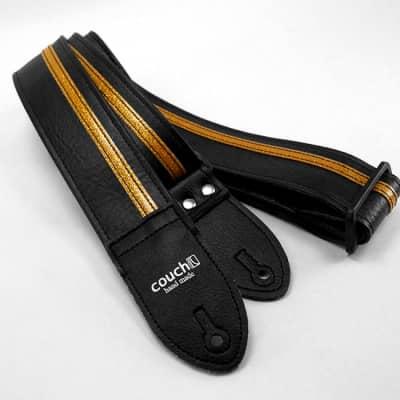Black & Gold Racer X Guitar Strap