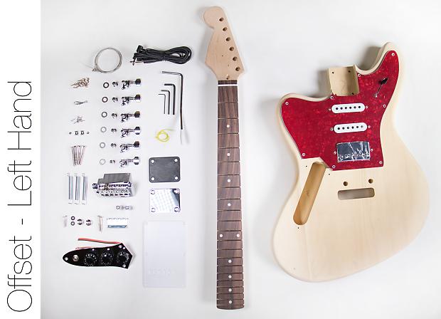 diy electric guitar kit jaguar style left hand guitar kit reverb. Black Bedroom Furniture Sets. Home Design Ideas