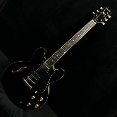2018 Peerless Hardtail Black #6327 Semi Hollow Electric Archtop Guitar